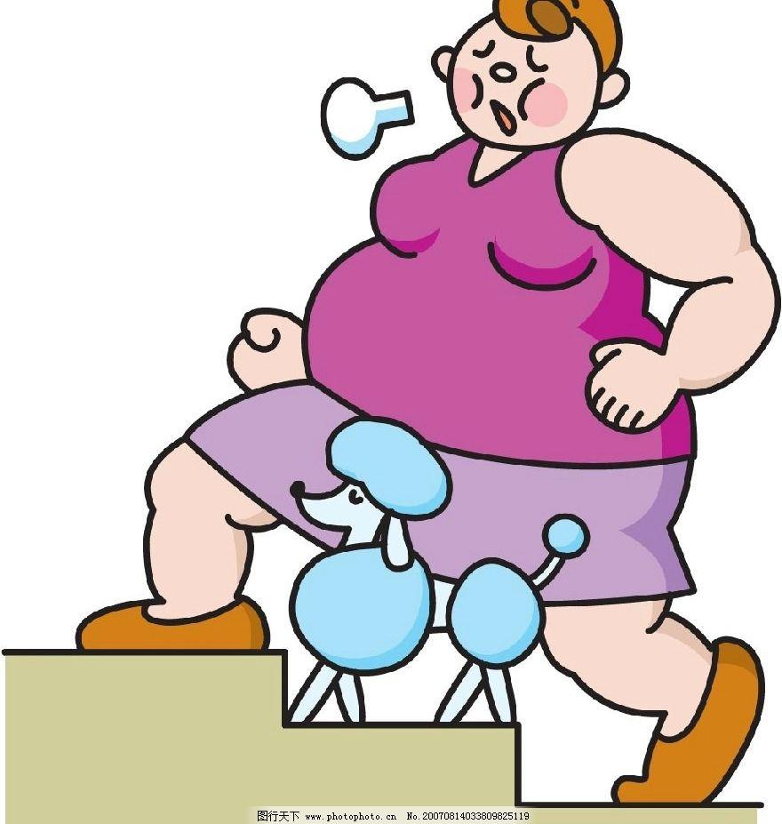 减肥漫画 健康 健康素材