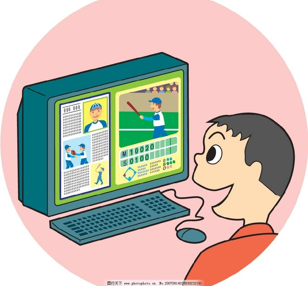 网络直播漫画图片_其他图片素材_其他_图行天下图库