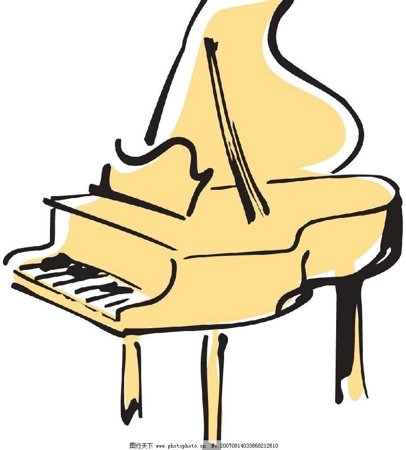 钢琴插画图片_其他图片素材_其他_图行天下图库