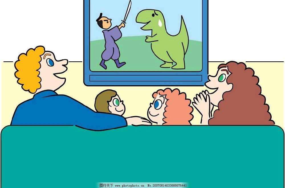 电视娱乐漫画图片_其他图片素材_其他_图行天下图库