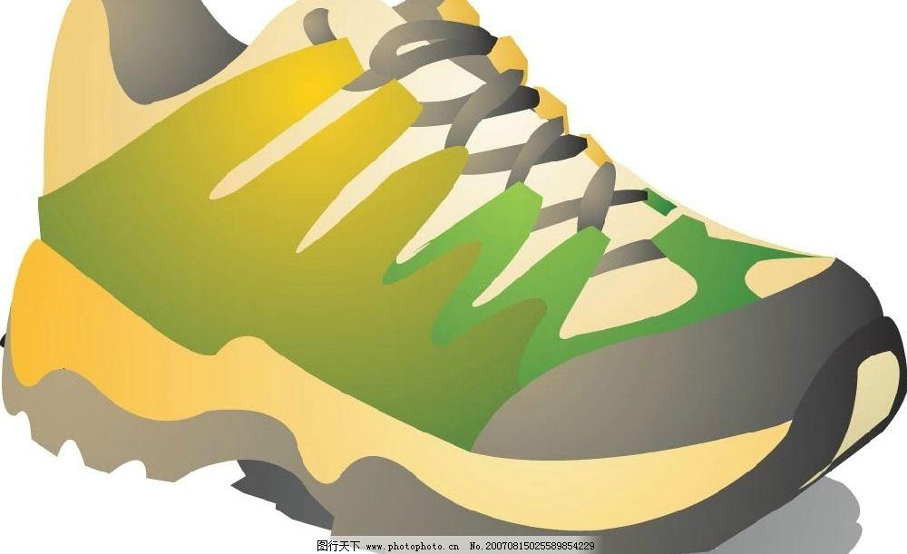旅游鞋 运动鞋 鞋子 矢量 矢量图 日常生活服饰 矢量图库