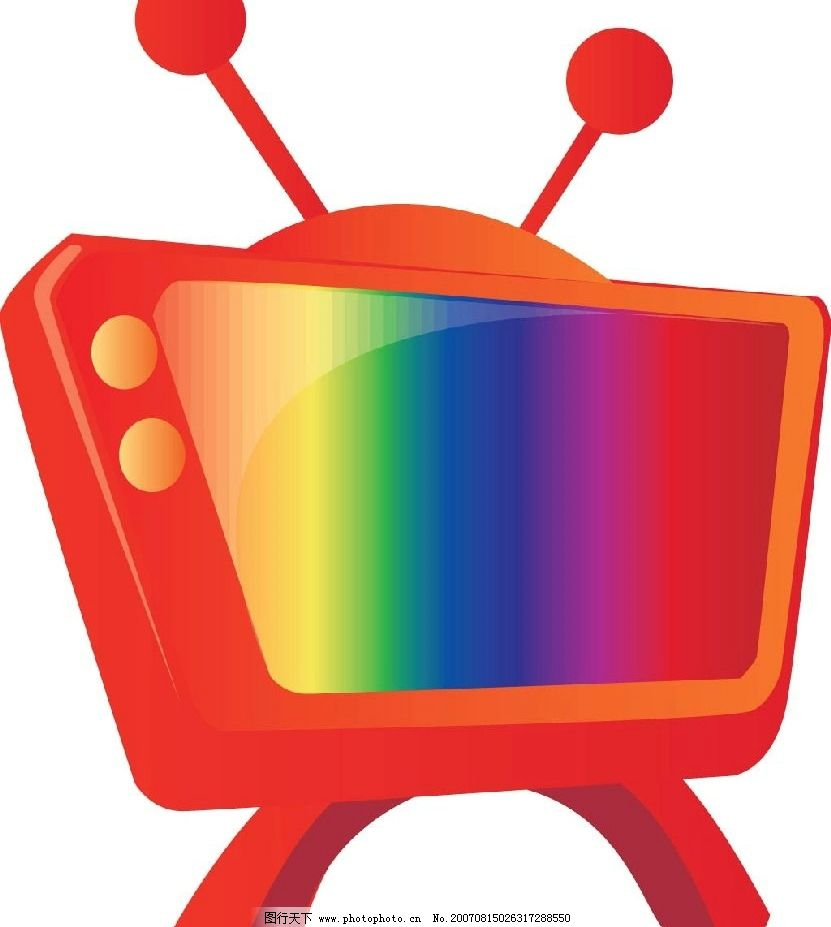 卡通电视机 矢量 矢量图 用品矢量 矢量图库