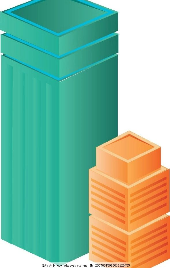 高楼大厦 房屋 房子 建筑 矢量 矢量图 建筑家居 城市建筑 房屋建筑