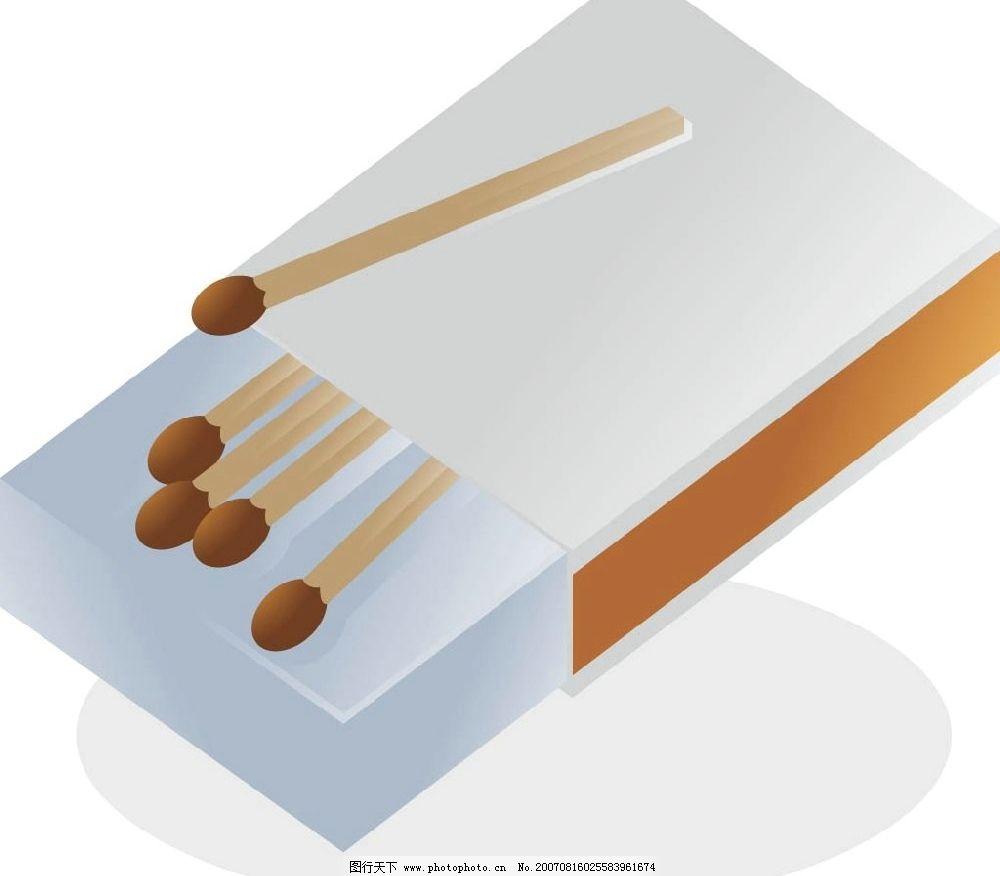 火柴盒 火柴 矢量 矢量图 生活素材 矢量图库