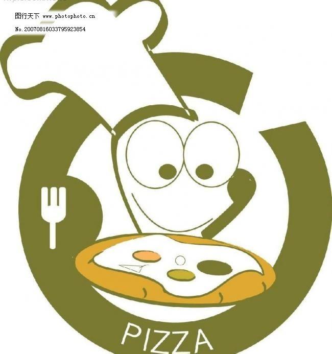 饭店logo广告模板下载 饭店logo广告 卡通人物 矢量 矢量图 其他矢量