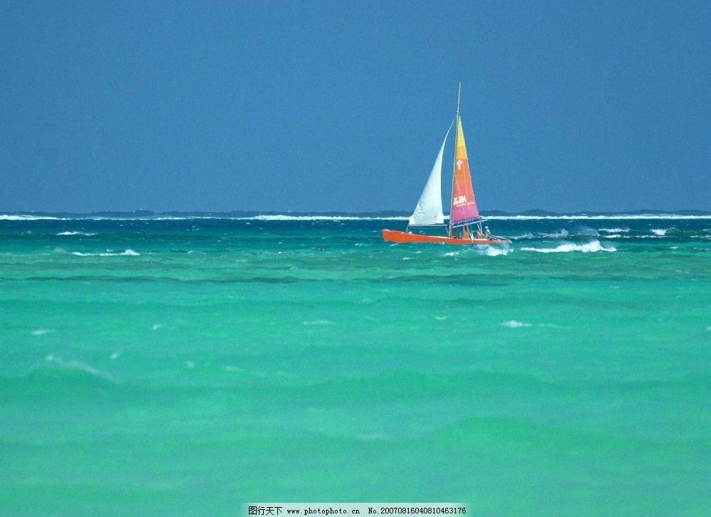 大海帆船 大海 海水 海浪 帆船 船 夏威夷-关岛塞班im 其他 图片素材