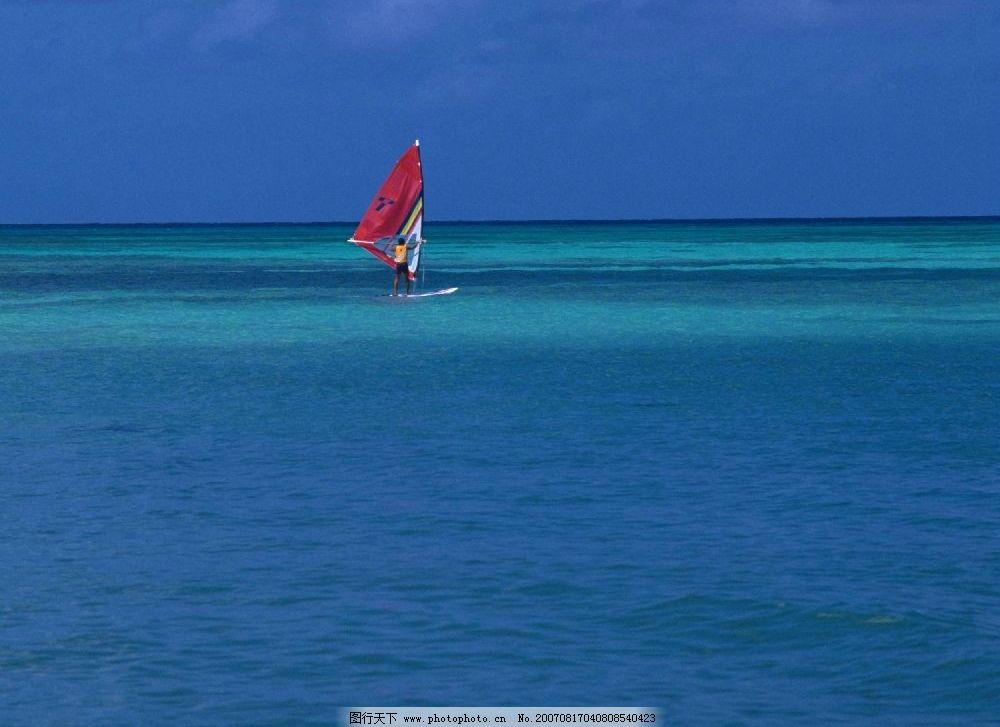 大海帆船 帆船 蓝色大海 大海 蓝天 夏威夷-关岛塞班im 其他 图片素材