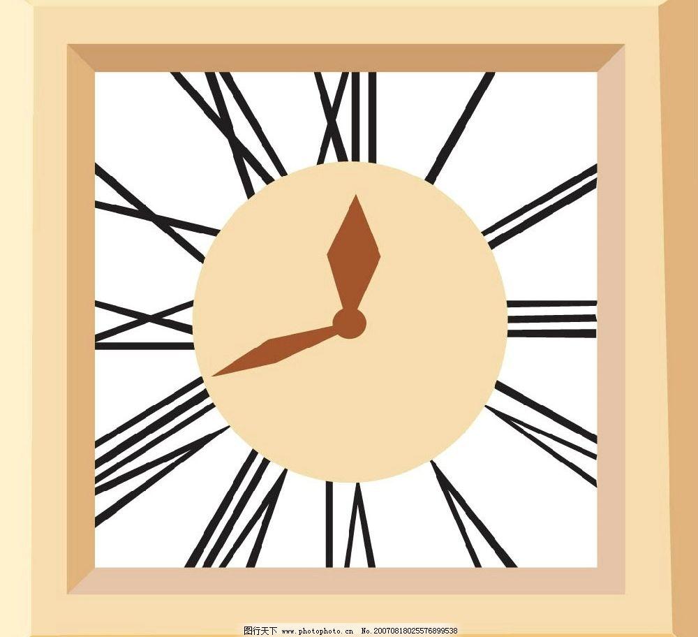 钟表 矢量 矢量图 生活用品矢量 矢量图库