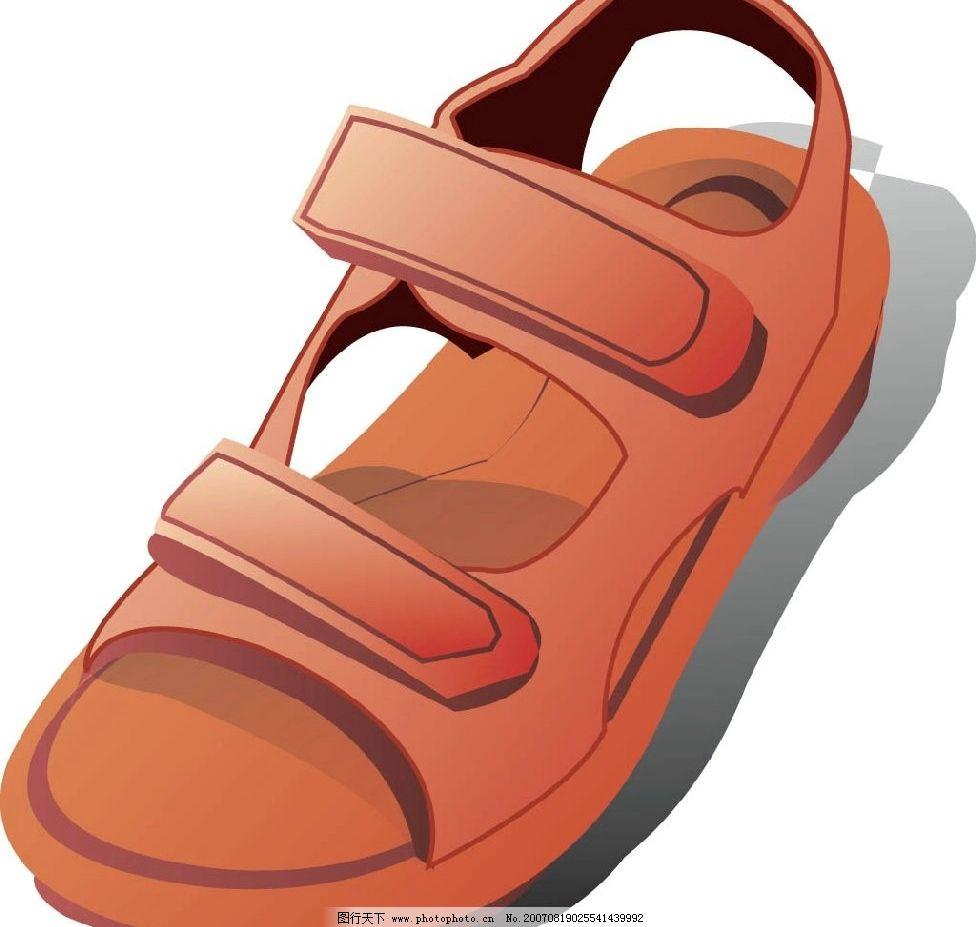 鞋子 凉鞋 矢量 矢量图 生活百科 生活用品 矢量生活物品 矢量图库 ai