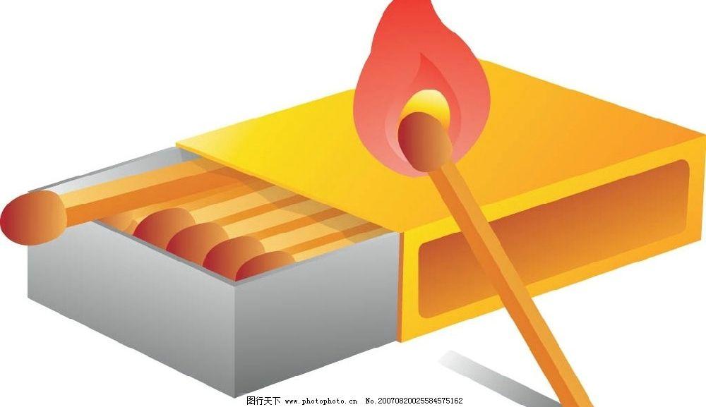 火柴 火柴盒 矢量 矢量图 生活物品矢量 矢量图库