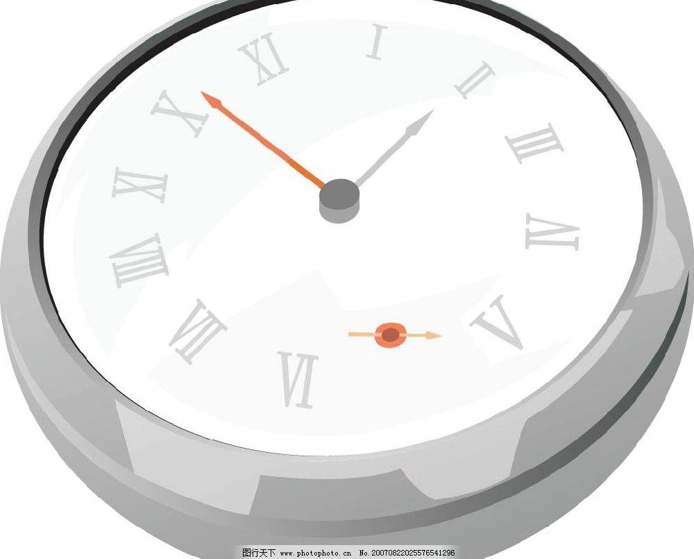 钟表 矢量 矢量图 矢量物品 矢量图库
