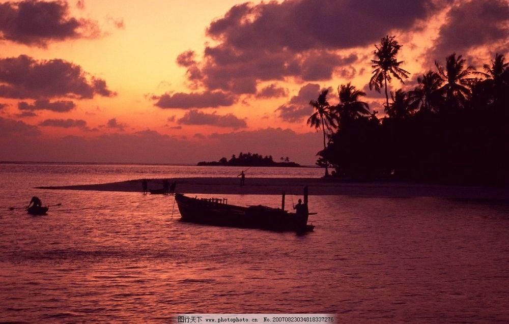夜幕下大海 海洋 海水 夕阳 摄影 自然景观 自然风景 夕阳大海