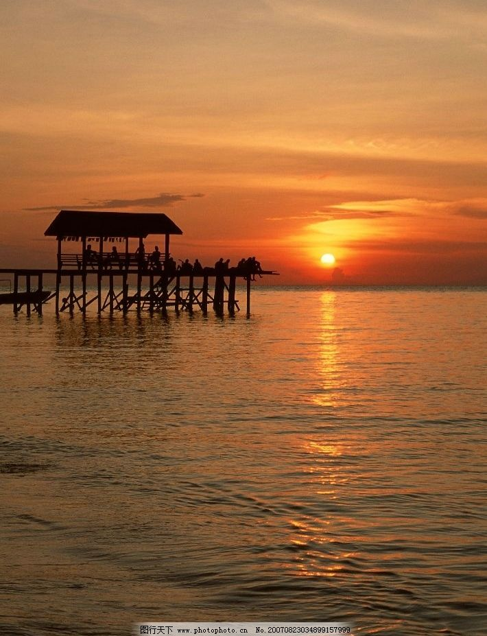大海 海洋 海水 夕阳 摄影 自然景观 自然风景 夕阳大海 摄影图库 350