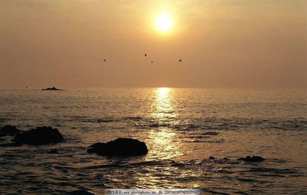 海上朝阳 大海 自然景观 自然风景 朝阳夕阳 摄影图库 350dpi