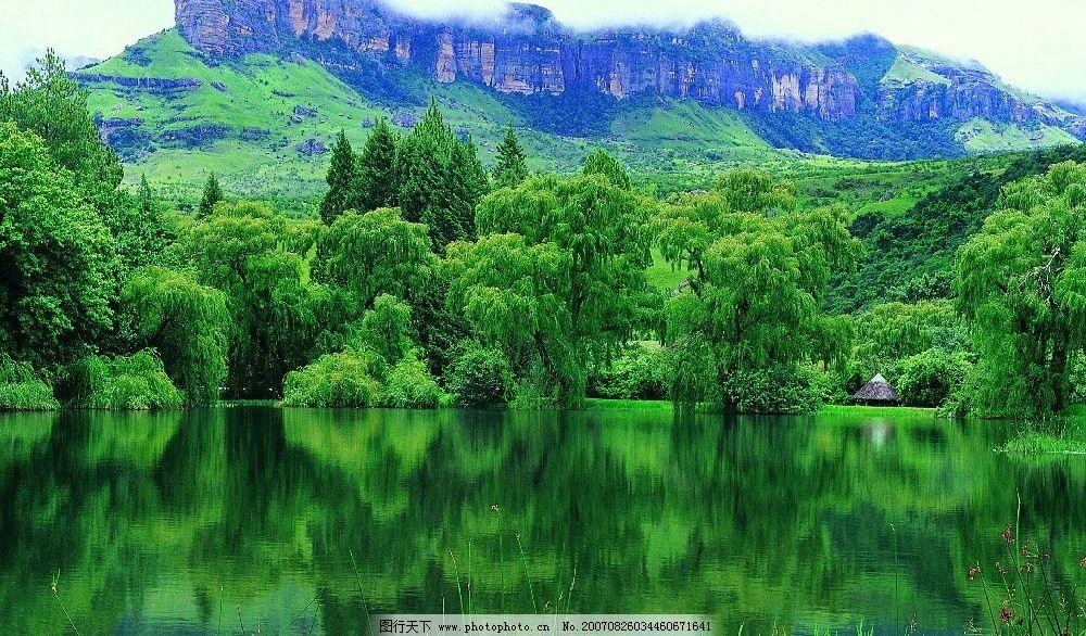 绿色山水 绿色 自然景观 山水风景 摄影图库 300dpi