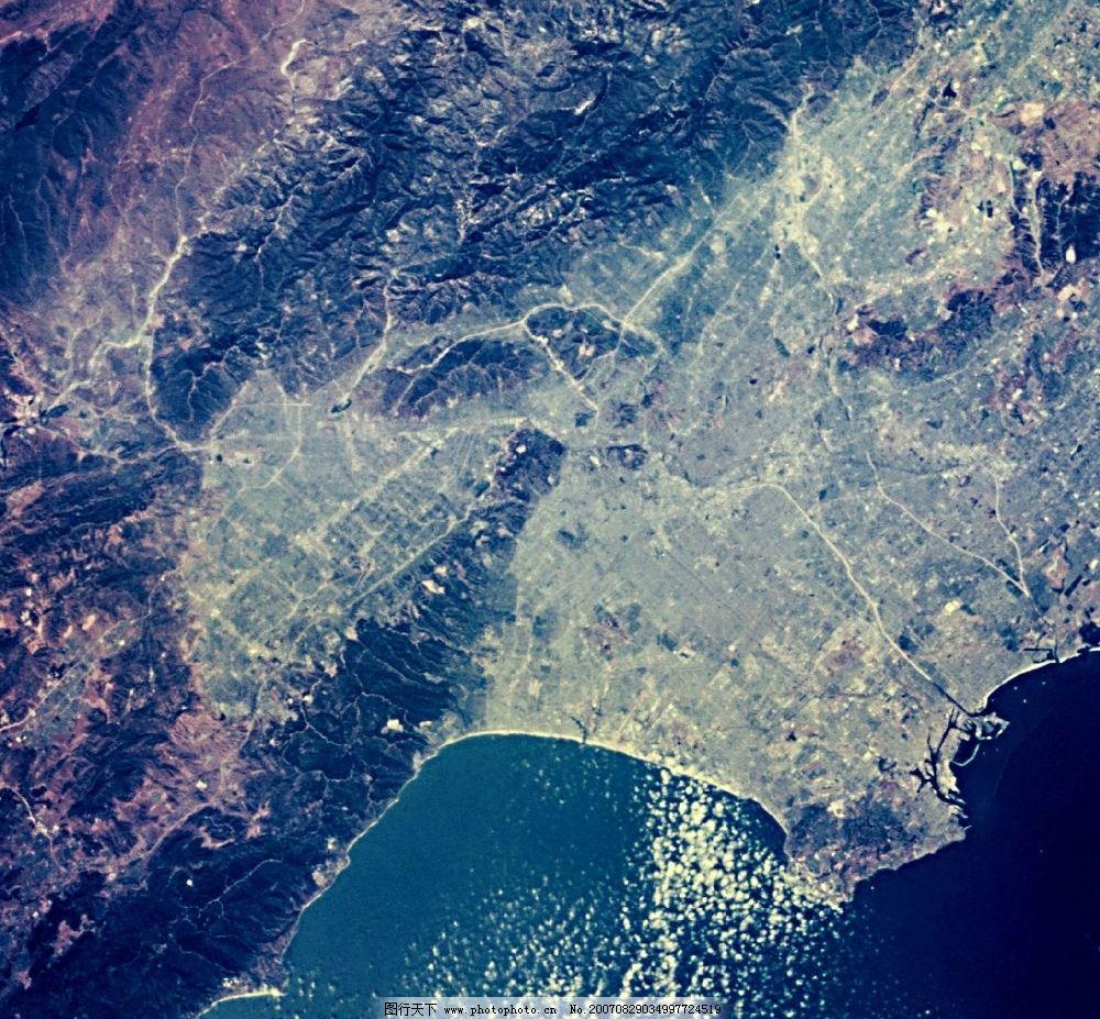 俯视地球图片