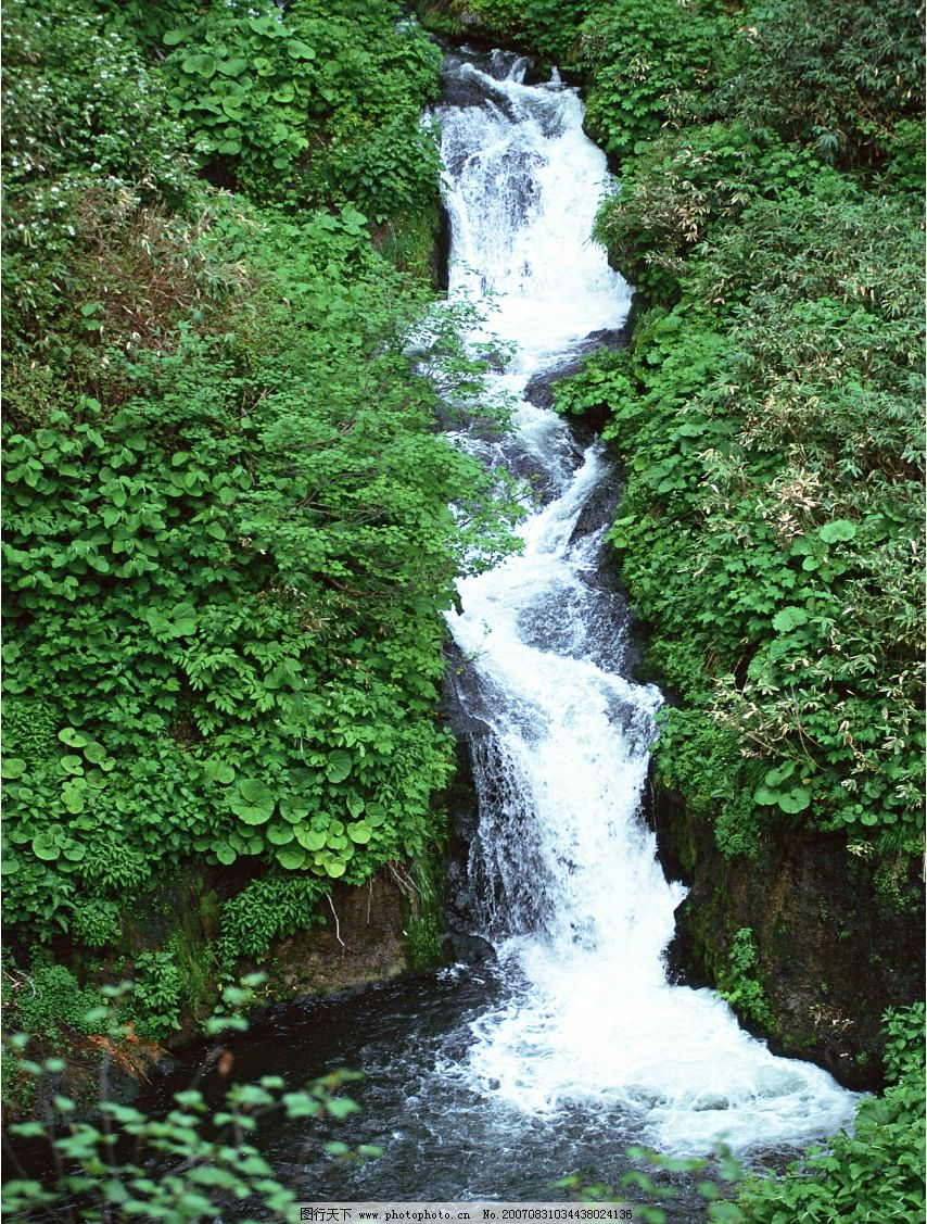 瀑布 流水 瀑布图片 瀑布风景 摄影图 自然景观 山水风景 瀑布流水