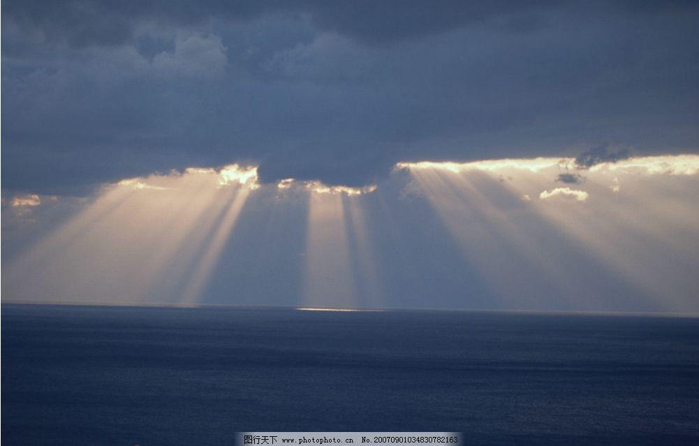 海上日出 大海 云朵 阳光 摄影图 自然景观 自然风景 日出日落