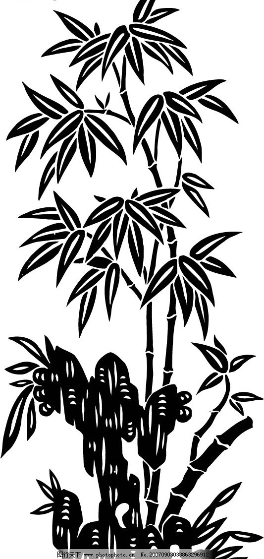 竹子 竹子黑白 其他矢量 矢量素材 矢量图库