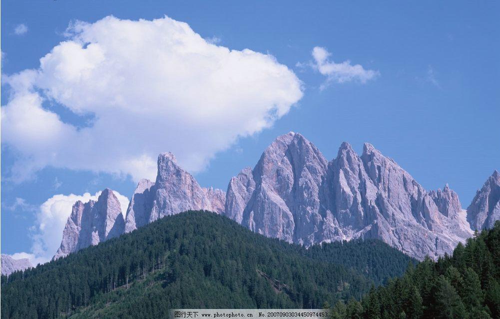 雪山森林 山峰 大山 山 高山 山峰图片 山峰的图片 自然景观 山水风景