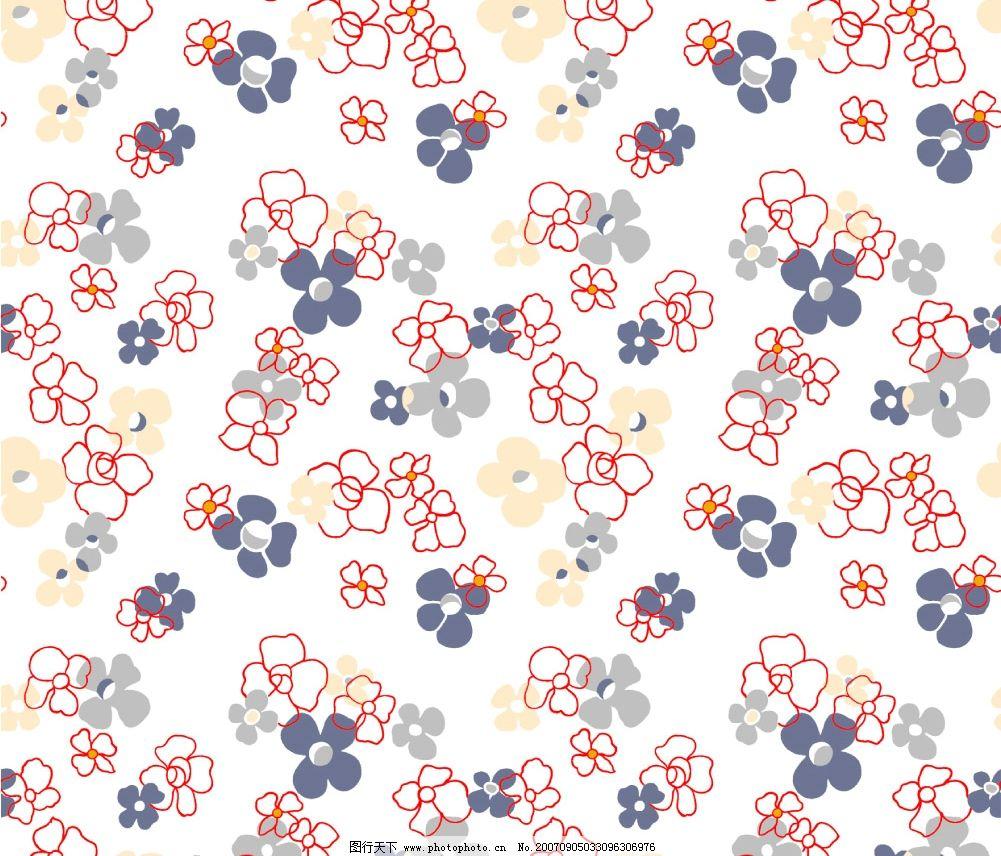 碎花布纹素材 古典花纹 传统花纹 传统底纹 花纹布纹 中国布纹