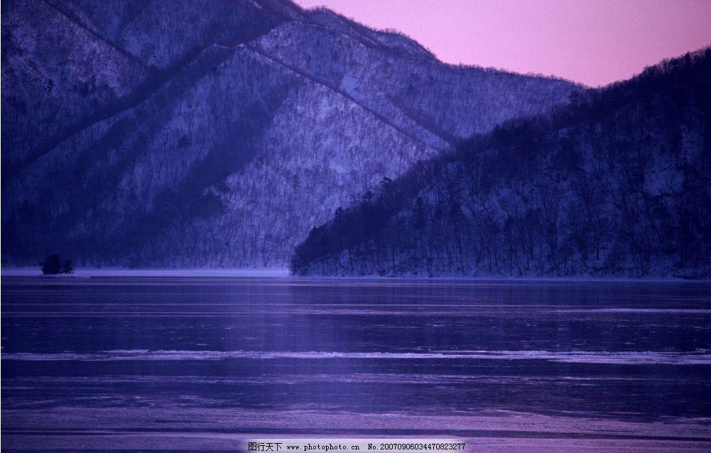 雪山雪景 雪景 冬天 冬季 自然景观 山水风景 四季风景 摄影图库