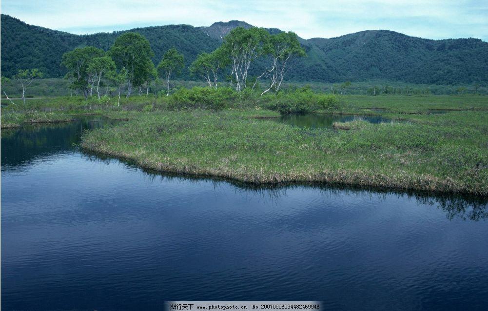 青山草地绿水 森林 树木 树林 青山 草地 绿水 自然景观 山水风景 四