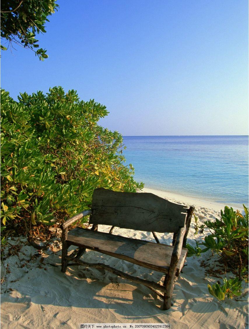 海边椅子图片图片