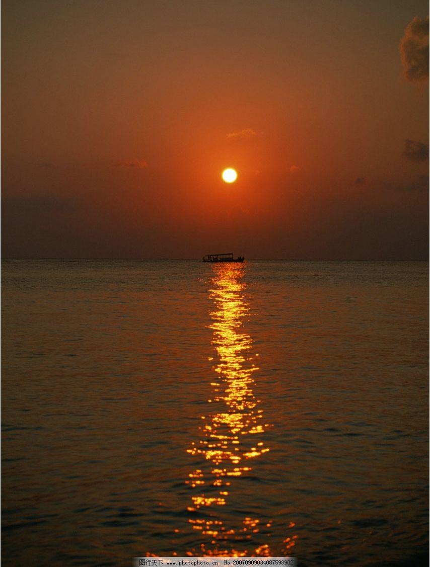 海上夕阳 夕阳 大海 海洋 海水 大海图片 大海的图片 大海图 大海照片