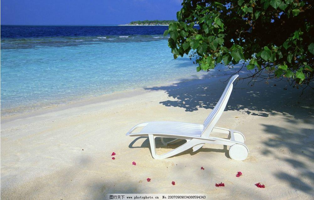 沙滩躺椅 椅子 大海 海洋 海水 大海图片 大海的图片 大海图 大海照片