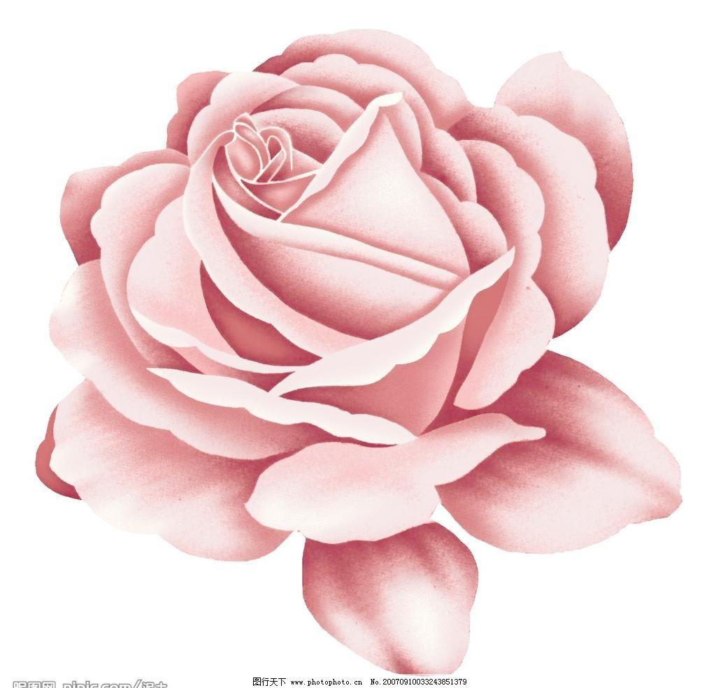 卡通玫瑰花朵模板下载 卡通玫瑰花朵 小花朵 韩国花纹psd素材 花朵psd
