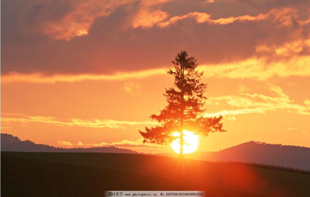 日出 朝阳 自然景观 自然风景 陆地景观 摄影图库
