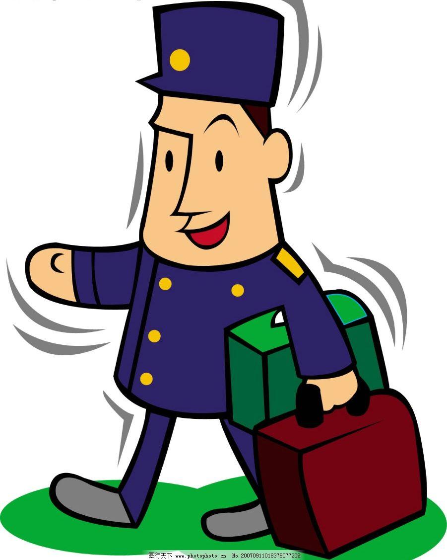 列车员 漫画 卡通动漫 动漫人物 jpg素材之漫画人物篇 设计图库 300