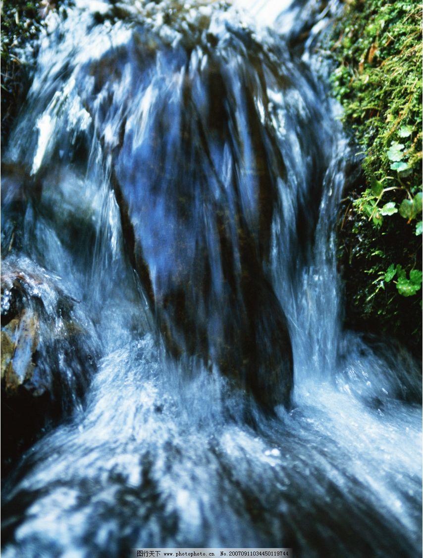 清澈流水 瀑布 流水 瀑布图片 瀑布风景 摄影图 自然景观 山水风景 摄