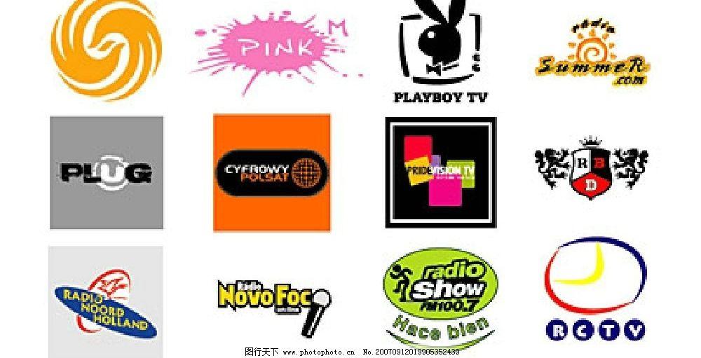 精选国外媒体矢量logo图片