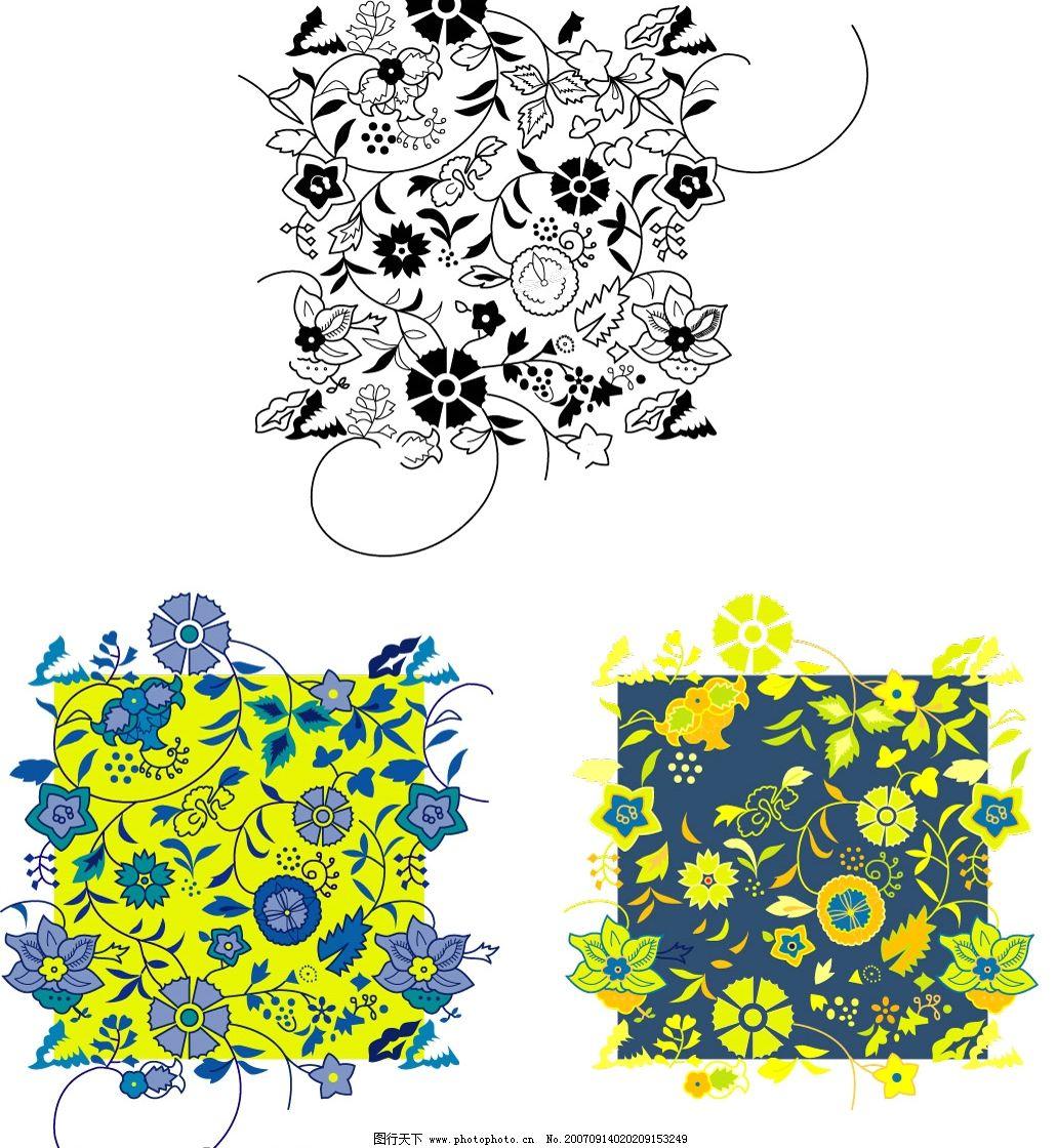 中国传统底纹 底纹边框 底纹背景 hgh-2007矢量素材系列之[中国传统