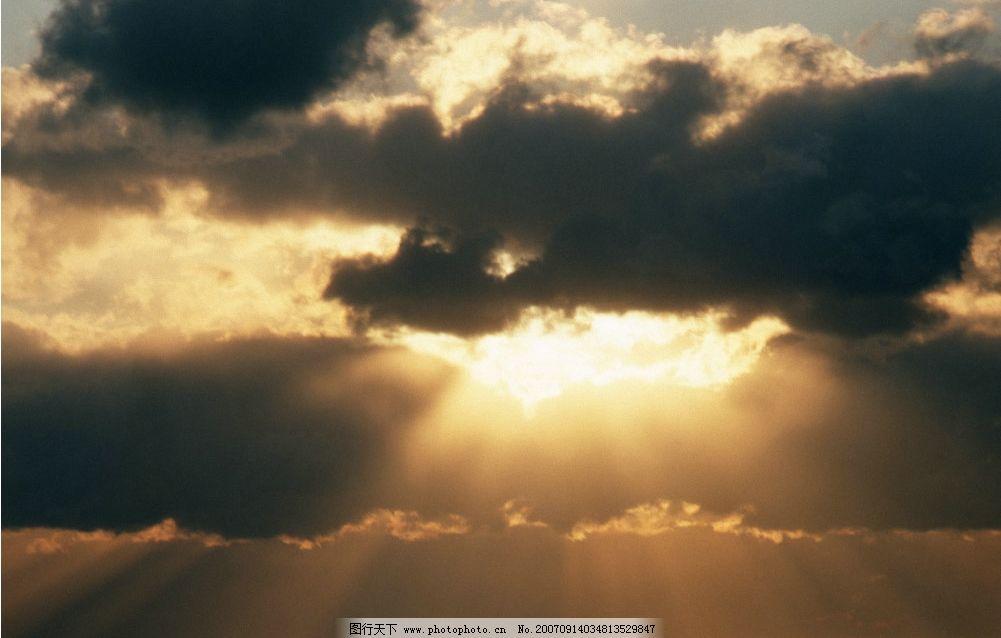 乌云阳光 云朵 天空 自然景观 自然风景 摄影图库   350 jpg