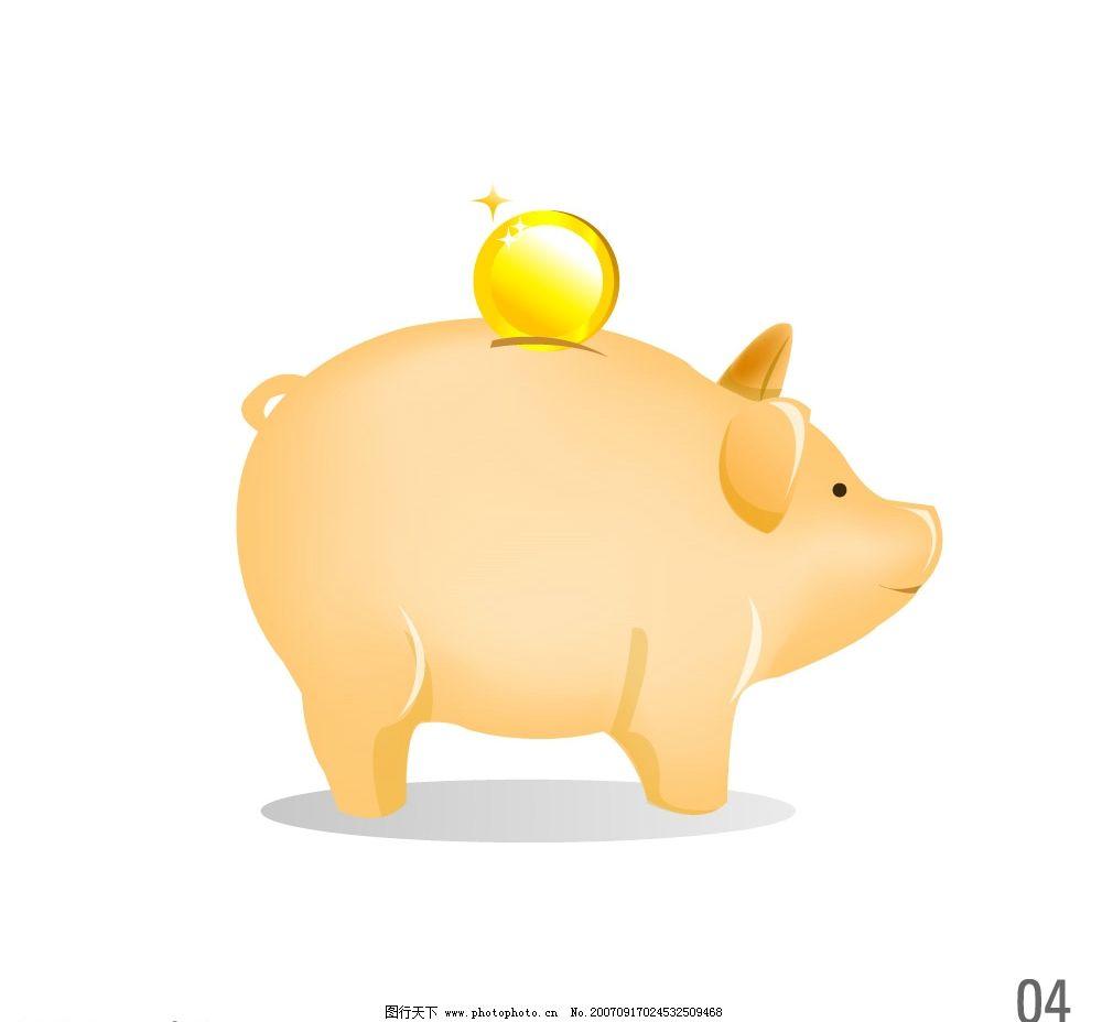卡通猪 猪的漫画 漫画猪 猪的图片 生物世界 家禽家畜 矢量图库   ai