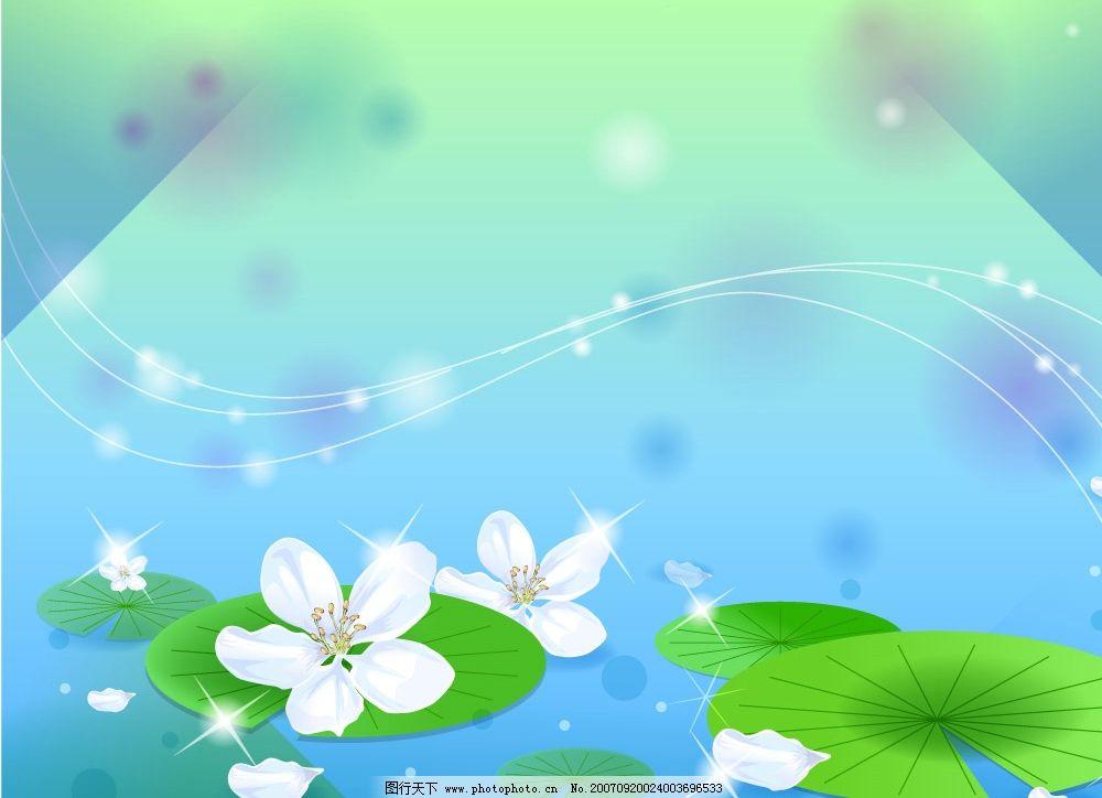 荷塘 荷花 中秋素材 中秋节素材 中秋 中秋节 自然景观 自然风景 矢