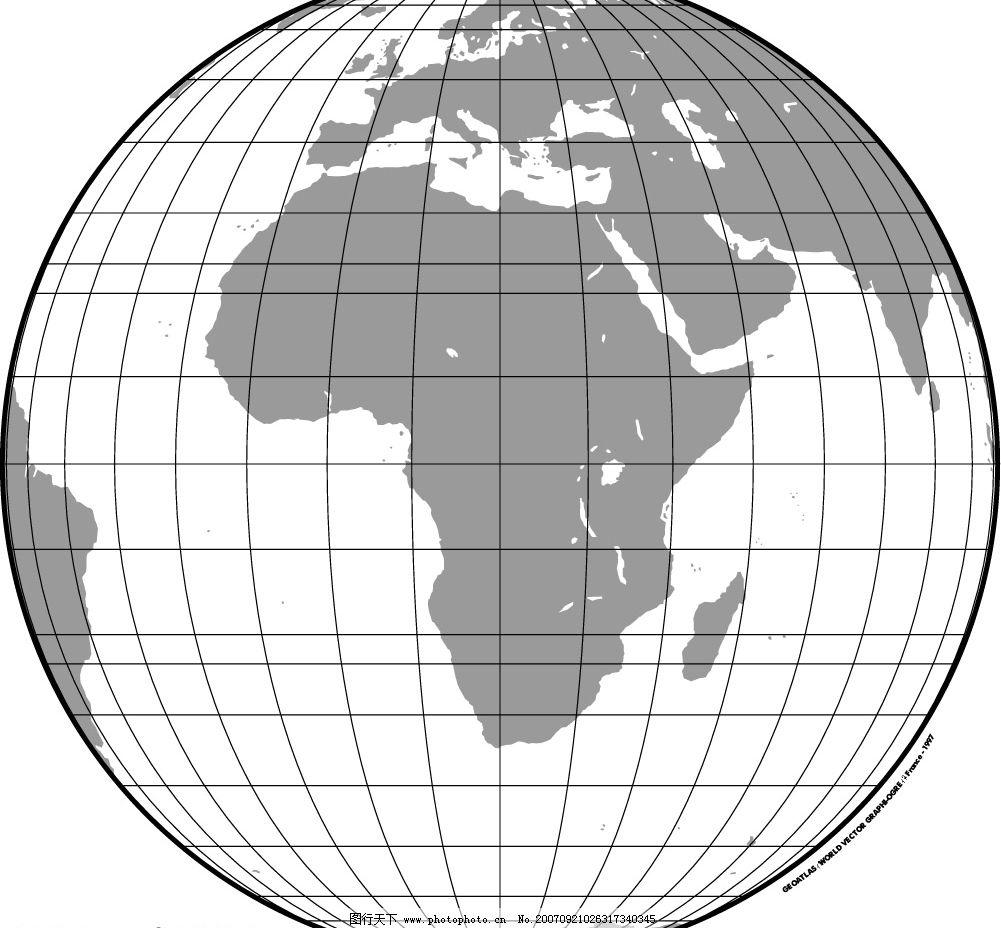 黑白地球仪图片