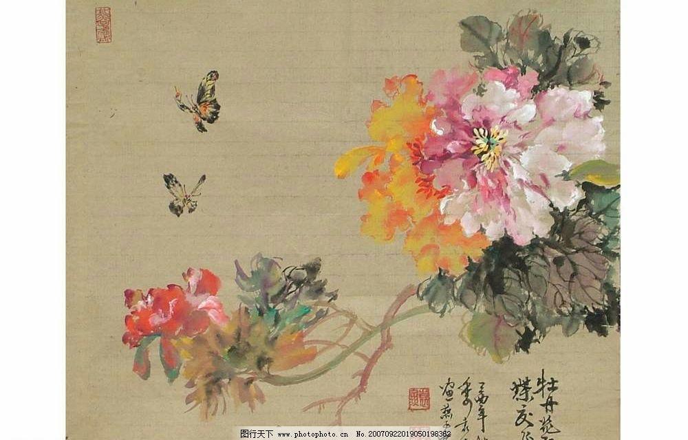 牡丹画图片,中国画 美术绘画-图行天下图库图片