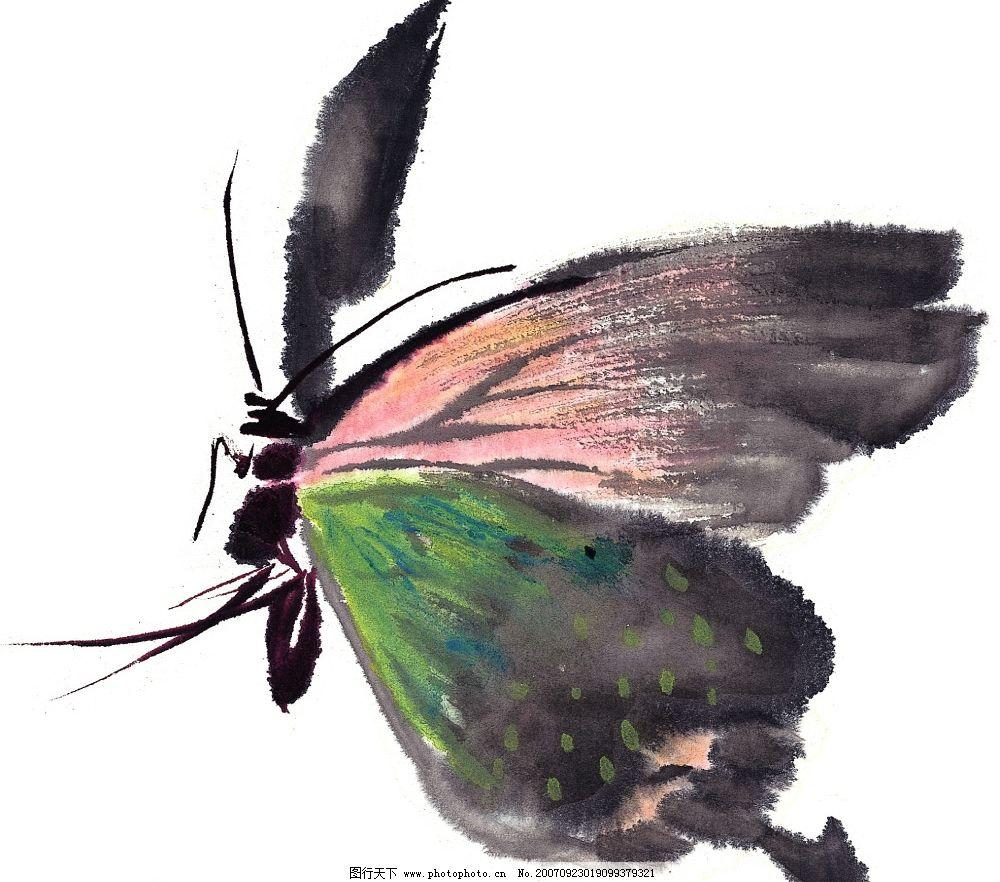 水墨风格的蝴蝶 水墨 蝴蝶 文化艺术 美术绘画 水墨风格的昆虫 设计
