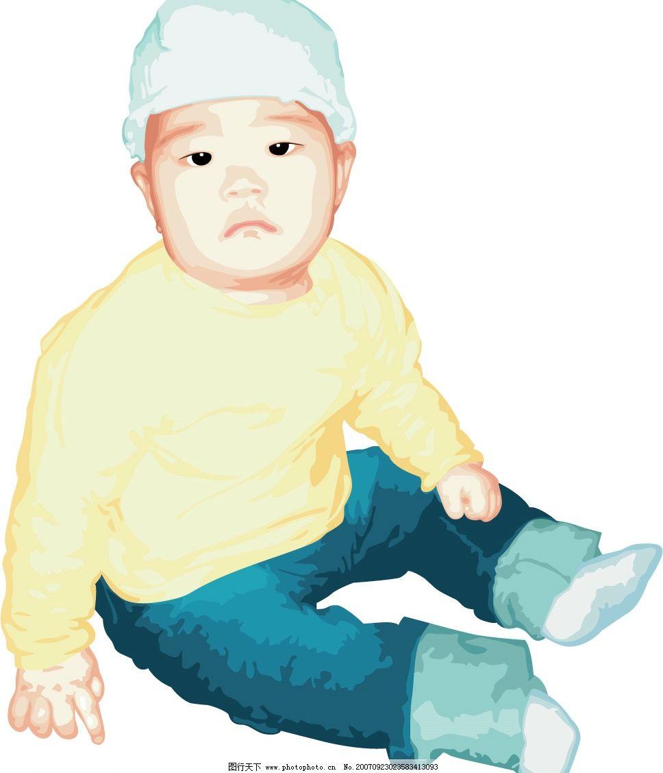矢量儿童 儿童 韩国儿童矢量图