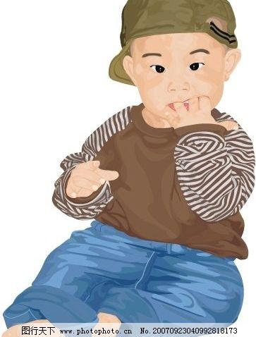 flash动画 动画素材  超级可爱的小男孩 儿童 矢量儿童 韩国儿童矢量