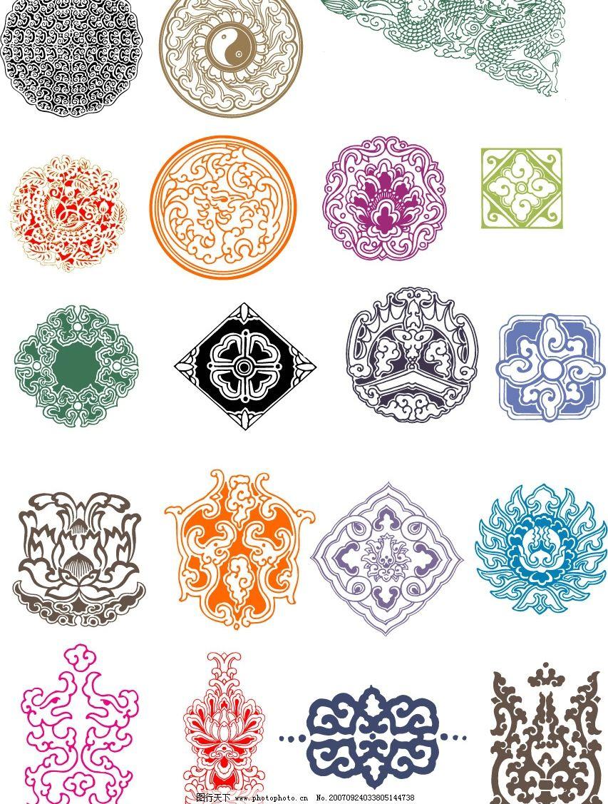 中国古代花纹 其他矢量 矢量素材 矢量图库   cdr
