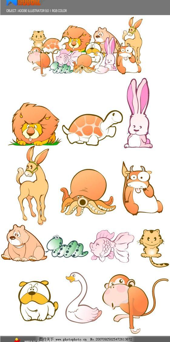 韩国矢量图标-动物系列.ai图片