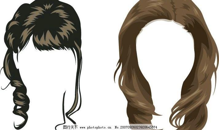 头发5 发型 矢量人物 其他人物 矢量图库