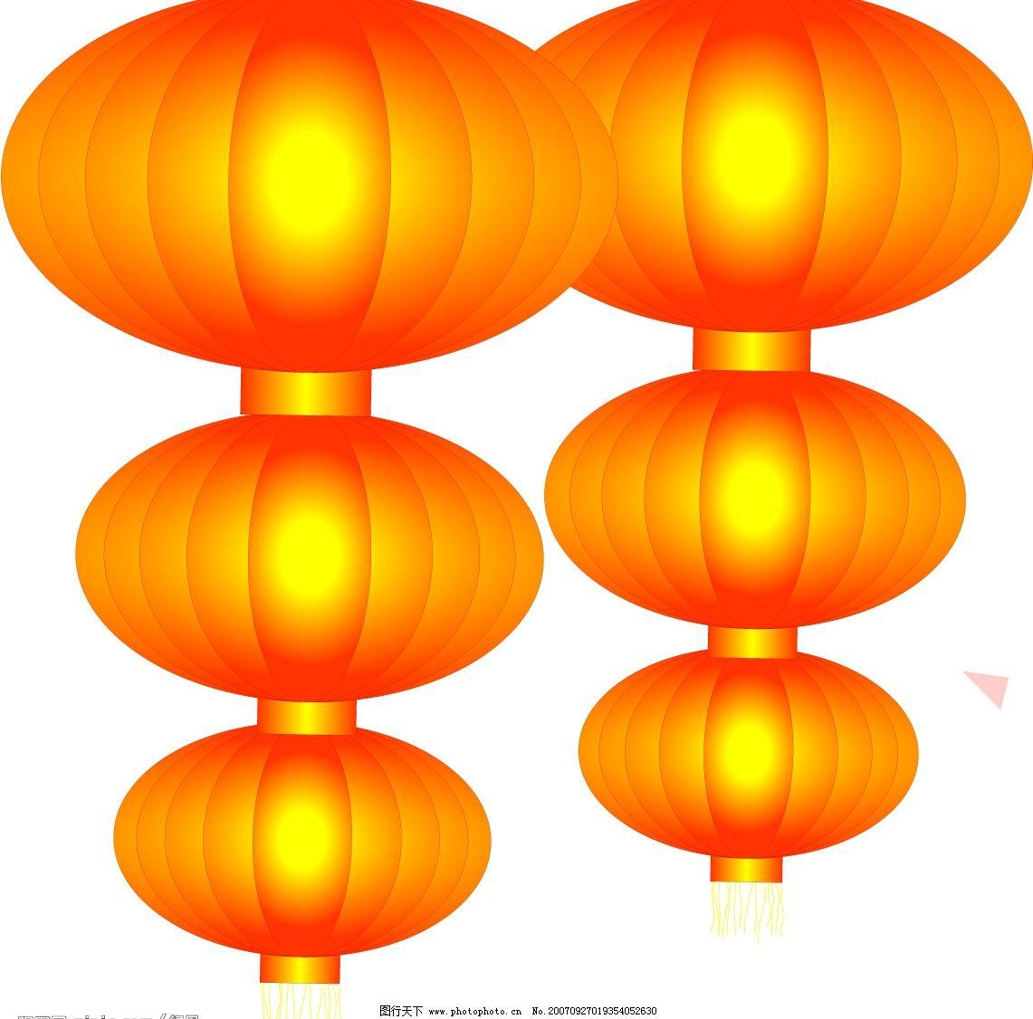 灯笼 做图用的 文化艺术 节日素材 矢量图库   cdr