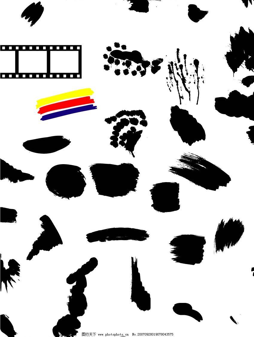笔刷 文化艺术 美术绘画 矢量图库   cdr